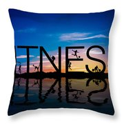 Fitness Concept Throw Pillow