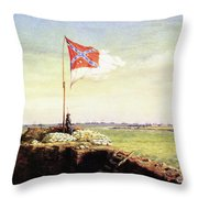Flag Of Fort Sumter Throw Pillow