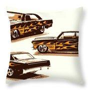 Flamin Chevrolet 66 Nova Throw Pillow