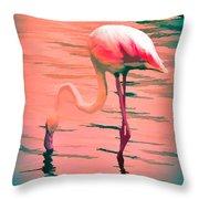 Flamingo Art Throw Pillow