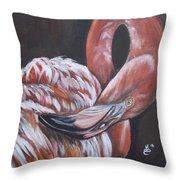 Flamingo Grace Throw Pillow