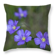 Flax Wildflowers Throw Pillow