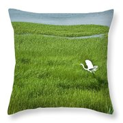 Salt Marsh Flight Throw Pillow