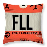 Fll Fort Lauderdale Luggage Tag I Throw Pillow