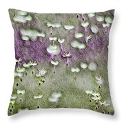 Floaters, Nature, Dandelion Fluff, Design, Impression Throw Pillow