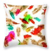 Floating In Colourful Abstract Throw Pillow