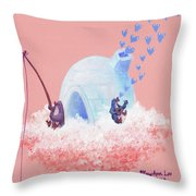 Floating Island Home Throw Pillow