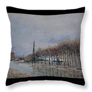 Flood At Port-marly, 1878 Throw Pillow