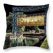 Flood Gate Throw Pillow