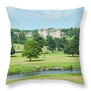 Floors Castle And River Tweed Throw Pillow