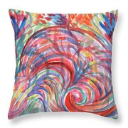 Floral Abstraction Throw Pillow