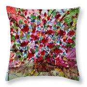Floral Life Throw Pillow