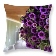 Floral Porch Sitting Throw Pillow