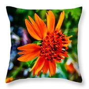 Floral Rush Hour Throw Pillow