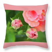 Flower Buds Rising Throw Pillow