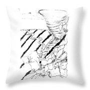 Flower Farmers Tornado Paint My Sketch Throw Pillow