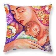 Flower Nap Throw Pillow