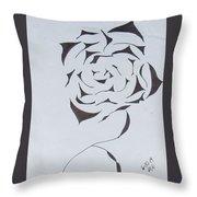 Flower Opening Throw Pillow