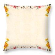 Flower Print Throw Pillow
