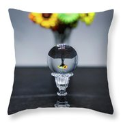Flowers And Crystal Ball Throw Pillow by Lora J Wilson