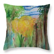 Flowers In A Forest Throw Pillow
