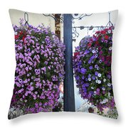 Flowers In Balance Throw Pillow by Mae Wertz
