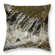 Flowing Water Over Rocks Throw Pillow