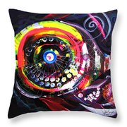 Fluorescent Fish And Friend Throw Pillow