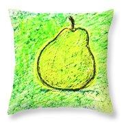 Fluorescent Pear Throw Pillow