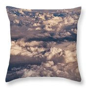Flying Over The Rocky Mountains Throw Pillow