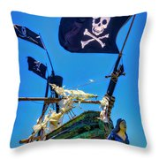 Flying The Pirates Colors Throw Pillow