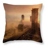 Foggy Day 2 Throw Pillow by Juan Contreras