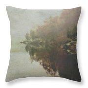 Foggy Potomac Waterscape Throw Pillow