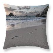 Follow Me Thoughtful Coastal Sunrise Throw Pillow
