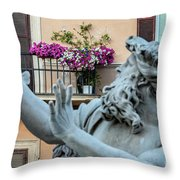 Fontana Dei Quattro Fiumi Throw Pillow