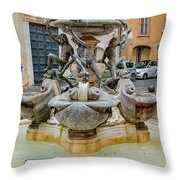 Fontana Delle Tartarughe Throw Pillow