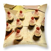 Foodie Nostalgia Throw Pillow