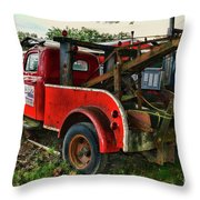 Ford F4 Tow The Truck Business End Throw Pillow