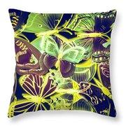 Forest Flutters Throw Pillow