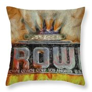 Forged In Fire - Crown - Oil Throw Pillow