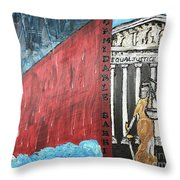 Formidable Barrier Throw Pillow