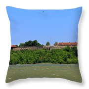 Fort Ticonderoga, From Lake Champlain. Throw Pillow