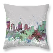 Fort Worth Skyline Artistic Pastel Throw Pillow
