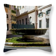 Fountain Square St. Eustace Throw Pillow