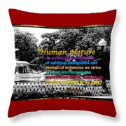 Fountain With Quote From Dreams Of The Immortal City Savannah Throw Pillow