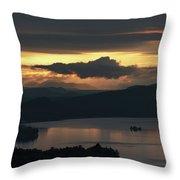 Fourth Lake First Light Throw Pillow by Brad Wenskoski