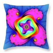 Fractal Art With Bold Colors Square Throw Pillow