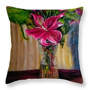 Fragrance Filled The Room Throw Pillow by J Reynolds Dail