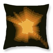France Radiant Map 3 Throw Pillow
