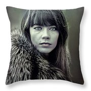 Francoise Hardy  Throw Pillow
